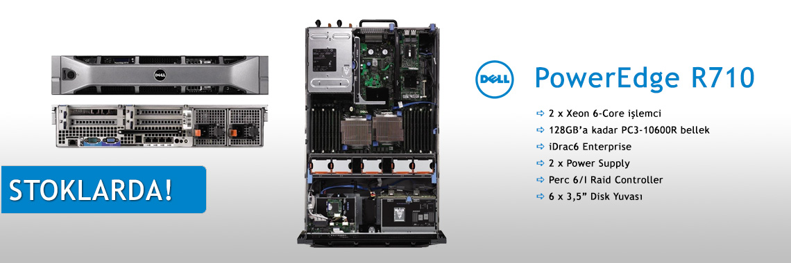 DELL PowerEdge R710 Sunucu